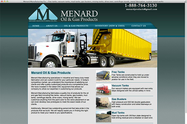 Menard Oil & Gas Products title=
